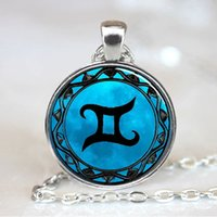 astrology gemini zodiac - Gemini Blue Moon Zodiac Symbol Pendant Gemini Zodiac Necklace Astrology Horoscope Jewelry Necklace Pendant