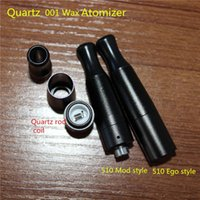 aluminum coil tube - Wax oil cartomizer e solid and dry herb ceramic coil atomizer with full aluminum tube and quartz glass coils