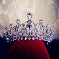 Cheap Luxury Bridal Crowns Sparkly Rhinestone Tiaras Crowns Bridal Headpieces For Wedding Bridal Tiaras Wedding Accessories Clear Veil Headbands