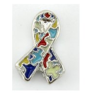 autism awareness ribbon - Autism Awareness ribbon floating charm for your living lockets SH516