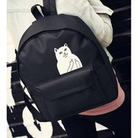Wholesale Japanese Cat New School Canvas Backpack For Women Mochila Escolar Women Backpack Teenage Girl Couple Cartoon College Wind