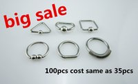 Wholesale 100pcs fashion stainless steel square triangle round irregular fake clip nose ring septum hoop nose plug non piercing