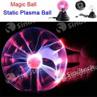 Wholesale 2016 Magic Plasma Lightning Ball USB Static Ball Lights Electric Crystal Sphere Nightlight Mood Lamp Party Lighting Birthday Gift Free Ship