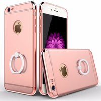 abs hard case - Brand Luxury ABS PC Ring Holder Stand Phone Cases For iPhone s P inch Hard Kickstand Back Cover Case