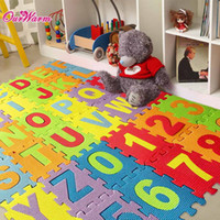 Wholesale Double Sides Baby Kids Toddler Crawl Mat Playing Carpet Playing mat Picnic Blanket Alphabet puzzle