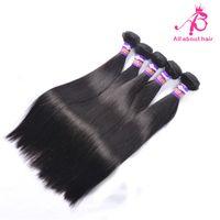 Wholesale Brazilian hair weave silky Straight one piece weaving hair human Natural Black unprocessed straight human hair weft good quality virgin