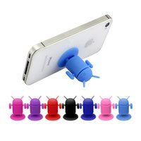 apple tv phone support - silica gel Funny toy Cell Phone Holder octopus addroid robbot Toilet Suck addroid phone support for Apple phone support supplier