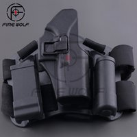 bags board - Armiyo Drop Leg Tactical Hunting Thigh Holster System For G17 G19 G22 G23 Magazine Bag Holster Flashlight Bag Thigh Board Black