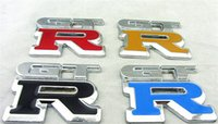 automobile badges - 2pcs automobile accessories car body styling stickers with GTR logo badge emblem