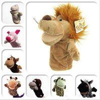 Wholesale Kids Animal Hand Puppet Toys Classic Kawaii Children Novelty Cute Dog Monkey Lion Muppet
