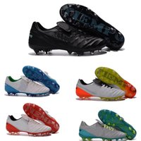Wholesale New Arrival Legendary Generation FG Tiempo Legend VI FG Low Soccer Shoes Men Football Boots Soccer Cleats Size Eur