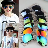 baby shields - Sunglasses New fashion Children designer sunglasses boys and girls metal glasses kids Round Adumbral Glasses baby sun glasses