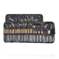 Wholesale 24pcs set makeup brushes Cosmetic Brush kit professional makeup brushes tools with Wooden Wood Handle Synthetic Hair Makeup Brush Kits