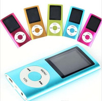 Wholesale MP3 MP4 Player Slim TH quot LCD Video Radio FM Player Support GB GB GB GB Micro SD TF Card Mp4