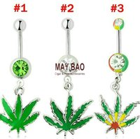 Wholesale Bob Marley Piercing Dangle Belly Ring Navel Piercing Jamaican Rasta Pot Belly Ring Navel Button Piercing Rings