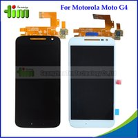 Wholesale Supreme Original Cell phone LCD Digitzer Assembly for Motorola Moto G4 Moto G th Gen XT1625 LCD Display Touch Screen Panels Tim4