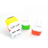 Wholesale 1PCS Double USB2 A business phone charger for charging private mode charger European regulations US regulations