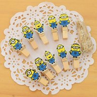 Wholesale 240 paper clips in pack wooden clip for memo photo Cute cartoon Scrapbooking tools Office material School supplies
