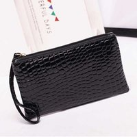 Wholesale New Leather Women Wallets Alligator Grain Coins Card Holder Purse Wallet