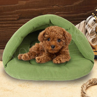 Wholesale Pet Dog Crate Cat Cave Keep Warm Winter Bed House Sleeping Bag Plush Mat dog cat mat warm cats bed pet beds camas para mascotas LSIZE