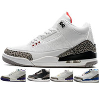 air suede - Air Retro White Cement Black Cement Wolf Grey Metallic Men Basketball Shoes Mixed Order accepted euro by EMS