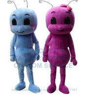 baby ant - 1 pair blue and rose red ant baby mascot costume adult size cartoon ant insect theme anime cosply costumes carnival fancy dress