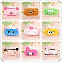 animal plush pencil case - Cartoon Pencil Case Pen bag Plush animal Pencil Bag for Kids Children School Supplies Korean Stationery design mix up model No bag33