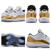 Wholesale Air Retro Low White Gold Sneakers Low Cut Basketball Shoes s Air Retro Outdoors Metallic Gold Shoes Size Bred Low Concord