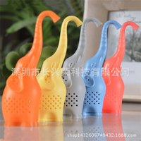 Wholesale Elephant Silicone Tea Infuser with Food Grade Make Tea Bag Filter Creative Tea Strainers Food Grade