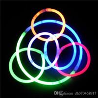 Wholesale Night Glow Stick for Christmas Festivities Party Ceremony Fluorescent LED Light Stick DIY Bracelets Necklaces Neon Vocal Concert