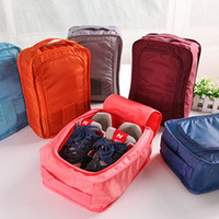 Wholesale Practical foldable oxford cloth shoe bag organizer zipper shoes storage bag hand carry pouch for travel
