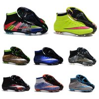 Wholesale 2016 New Top sale Original Outdoor Mercurial Superfly VI FG CR7 Football shoes Magista Obra Soccer Shoes Hypervenom II football Cleats