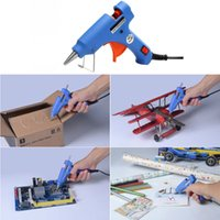 Wholesale High quality V V W LED Display Craft Electric Tool Heating Hot Melt Glue Gun with Glue Sticks EU Plug