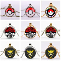 ball jewellry - Poke Ball Necklaces Vintage Jewellry for Women Men Anime Halder Time Gemstone pokeball Pendant Necklace womens mens Jewelry Christmas Gifts