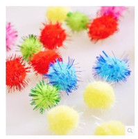 balls tinsel - Purple Star Pet Accessories Bird Parrot Squirrel Hamsters Sparkly Glitter Tinsel Pompom Balls Small Pom Pom Ball Toys cm
