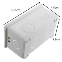 Wholesale Smart switch boxes RF switch Mounting Box Cassette Wiring Box White Back Box for mm plastic electronics project box