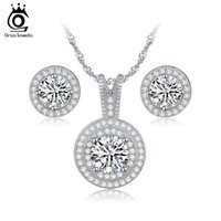 Wedding Jewelry Sets african items - Top Sale Items Combining Jewelry Sets for Wedding Round Shape Brillaint Zircon Necklace Earrings Luxury Brides Set OS77