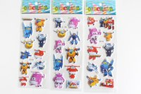 Wholesale 9 sheets set Super Wings stickers for kids Home decor on laptop cute car sticker decal fridge doodle toy Superwings D stickers