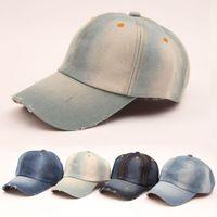 ball travel - hot sale summer Vintage women cowboy baseball cap ladies snapback hats denim jeans leisure travel caps Sun hat colors B796