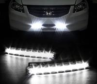 Wholesale 2016 Super White LED Super Bright White DRL Car Daytime Running Light Head Lamp Universal IP67 Waterproof Day Lights Running Head Lamp