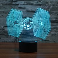baby star led lights - Creative Gifts Star Wars Tie Fighter Lamp D Deco Vision Desk Lampara Led USB Colors Changing Baby Sleeping Night Light
