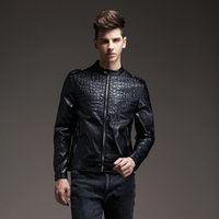 Wholesale Leather Jacket New Design Stand Collar Epaulet Decoration Zipper Frontfly Two Pockets Jackets Men Size M to XL Factory Dropshipping