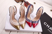 adhesive transparency - Sexy Pointed Toe Women Pumps Transparency Spell Color Pointed crystal clear patent leather Red Bottom High Heels slingback Shoes