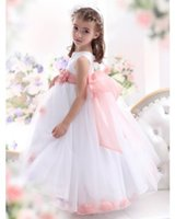 baby gi - girls pageant dress Lovely Jewel Lace Ball Gown Net Baby Girl Birthday Party Christmas Princess Dresses Children Girl Party Dress Little Gi