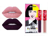 Cheap I have 2 MOODS DUO velvetiness raven marshmallow Lime crime liquid matte lipstick select one shade 2pcs set