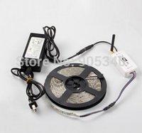 Cheap DIY set Wifi RGB LED strip &controller ,5M 5050 RGB NP led strip 60led m,+1pcs 12V 7A 84Wpower adapter,DC7.5-24V,With music mode