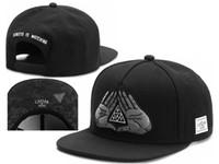 sombrero de béisbol del casquillo del snapback negro con la marca de moda la mano gorras para mujeres de los hombres del deporte del hueso de la cadera para mujer para hombre del salto Gorras sombrero del sol barato de alta calidad