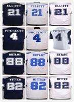 Wholesale Dallas Cowboys Dak Prescott Ezekiel Elliott Tony Romo Emmitt Smith Sean Lee Jason Witten Dez Bryant elite jerseys