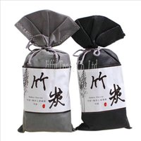 Wholesale 2pcs Car Air Freshener Bag Bamboo Charcoal Activated Carbon Air Freshener for Car color grey black
