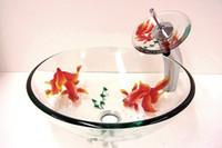Wholesale Glass Sink Basin glass bowl sinks clear tempered glass basins for bathrooms Modern Bathroom Basin